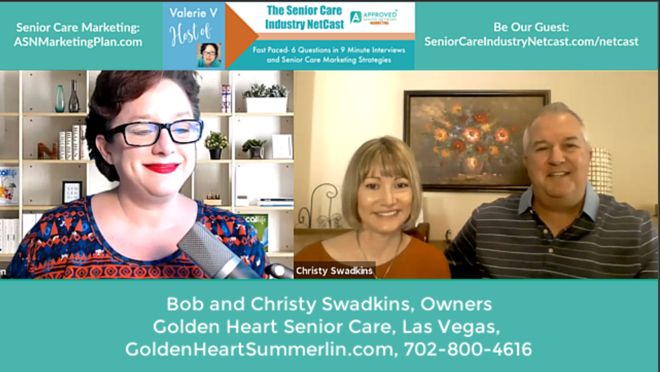 Bob & Christy Swadkins on Episode 35 of the Senior Care Industry Netcast!